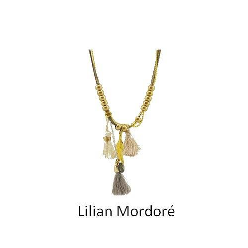 Lilian: long leather necklace collierlilianmordore